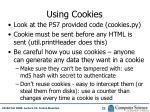 using cookies