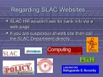 regarding slac websites