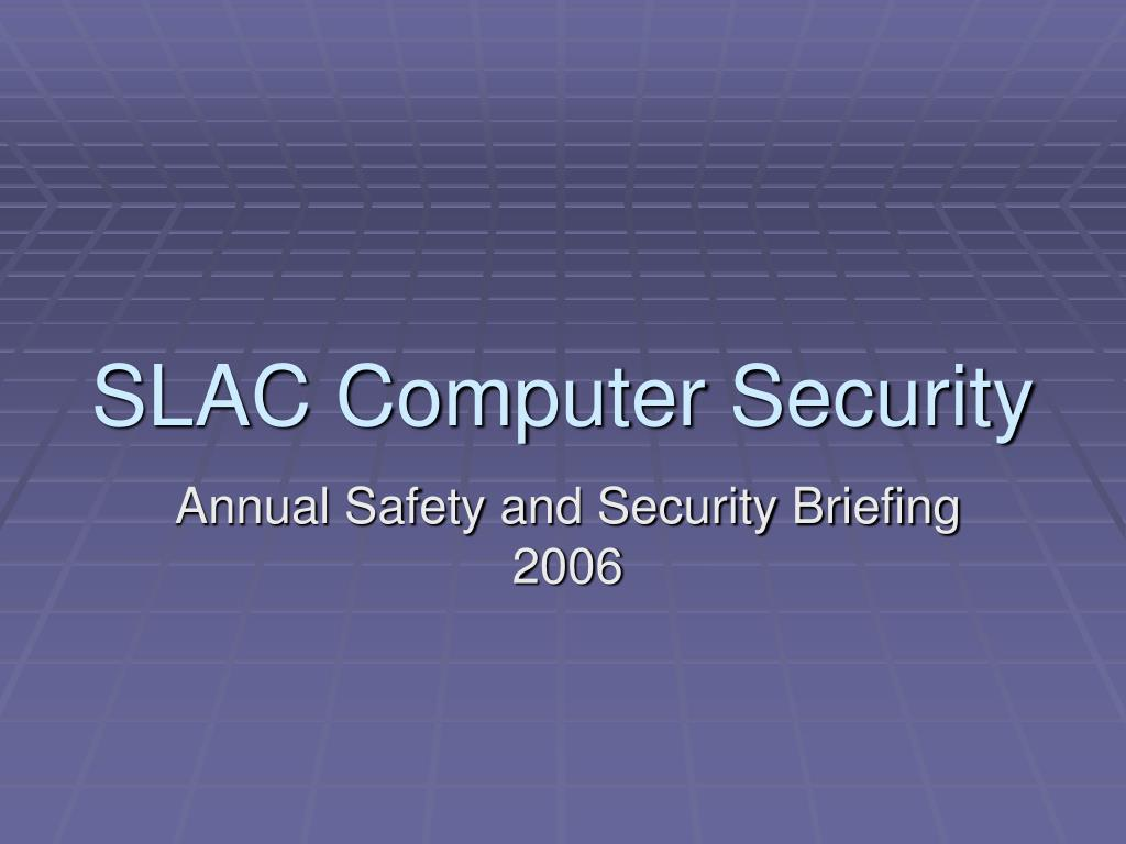 slac computer security l.