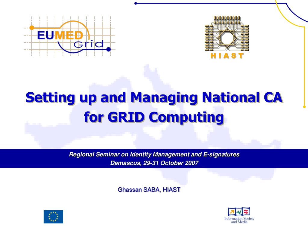 setting up and managing national ca for grid computing l.