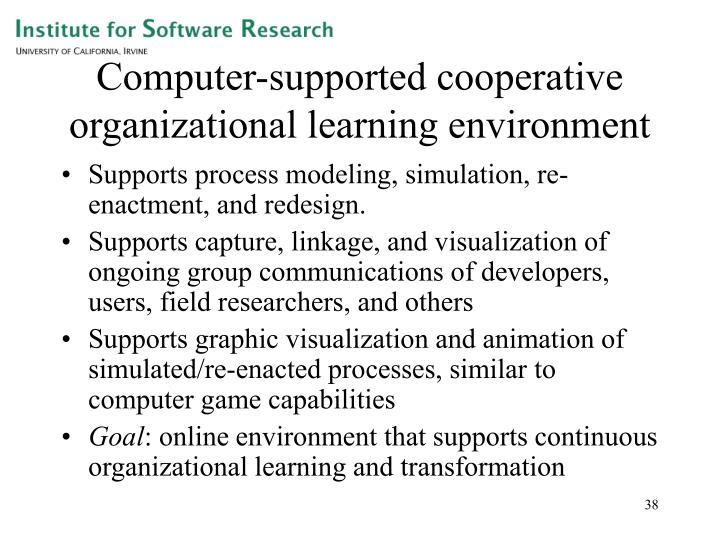 Computer-supported cooperative organizational learning environment