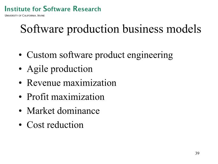 Software production business models