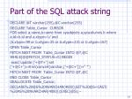 part of the sql attack string