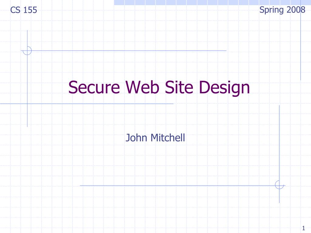 secure web site design l.