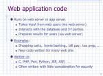web application code