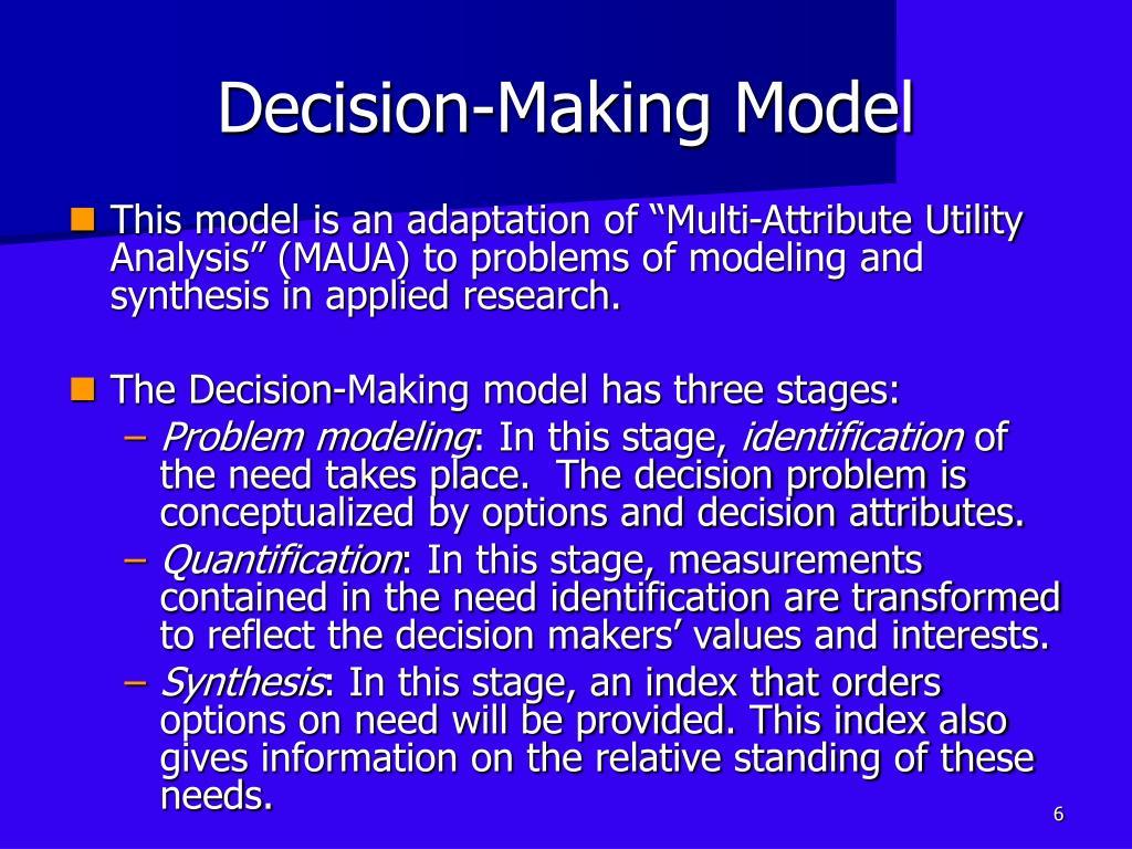 decision making model analysis