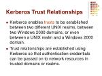 kerberos trust relationships