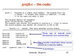 proj0 c the code