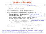 proj0 c the code21
