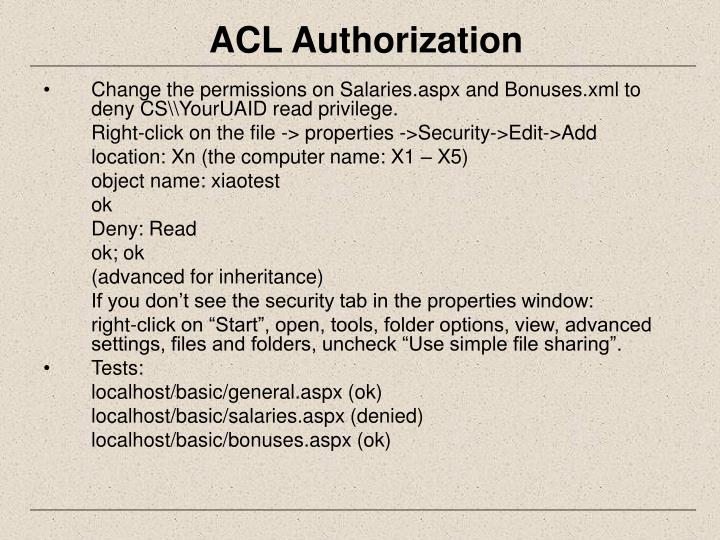 ACL Authorization