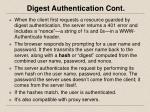 digest authentication cont
