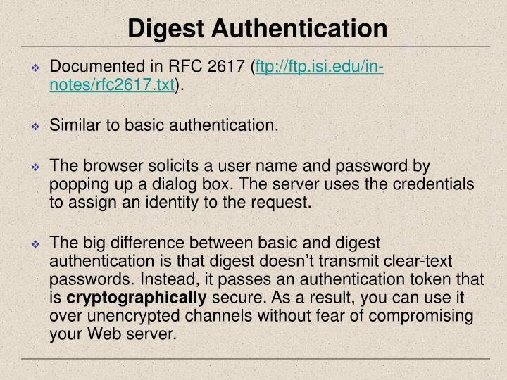 Digest Authentication