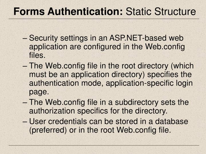 Forms Authentication: