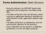 forms authentication static structure