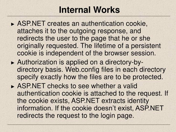 Internal Works