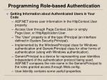 programming role based authentication