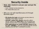 security inside