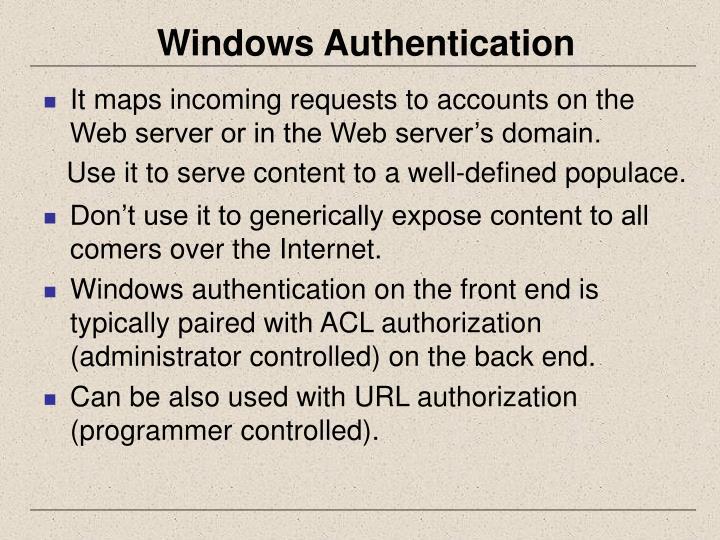 Windows Authentication