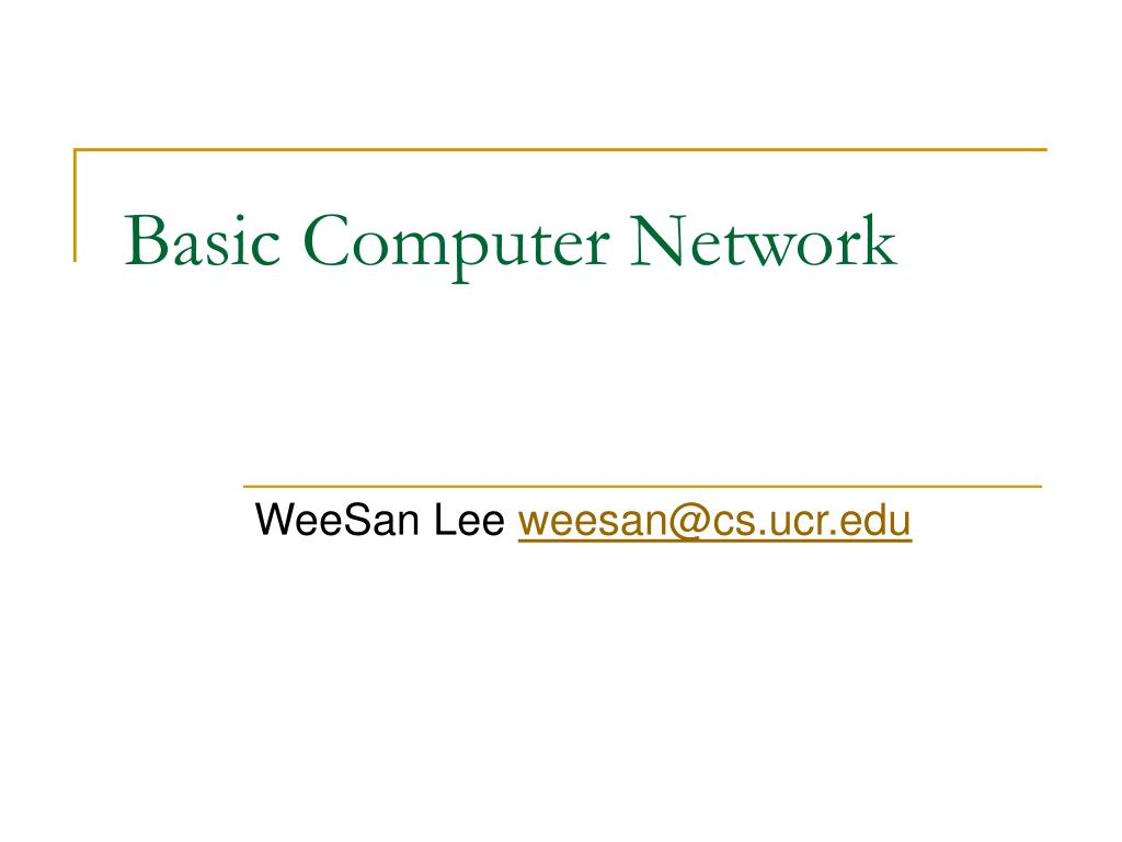 basic computer network l.