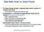 data rate inner vs outer tracks