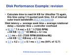 disk performance example revision