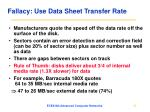 fallacy use data sheet transfer rate