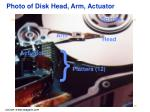 photo of disk head arm actuator