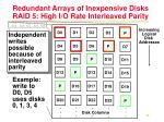 redundant arrays of inexpensive disks raid 5 high i o rate interleaved parity