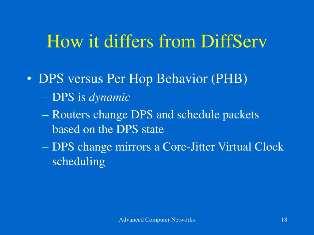 How it differs from DiffServ