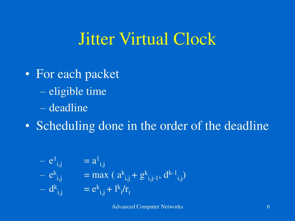Jitter Virtual Clock