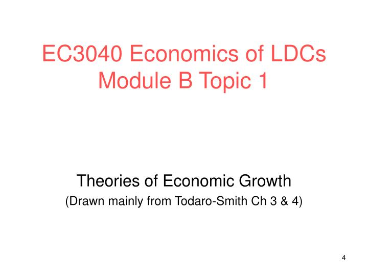 EC3040 Economics of LDCs