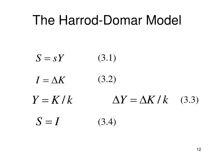 The Harrod-Domar Model