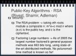 public key algorithms rsa rivest shamir adleman19