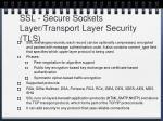 ssl secure sockets layer transport layer security tls