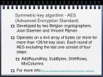 symmetric key algorithm aes advanced encryption standard