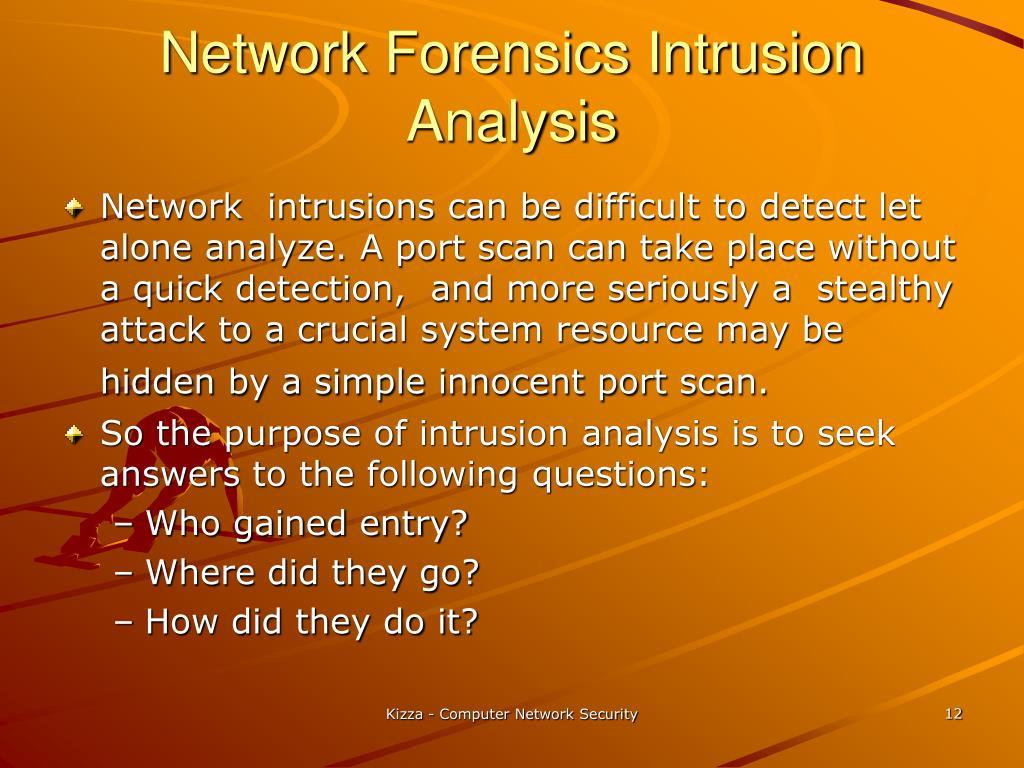 Network Forensics Intrusion Analysis