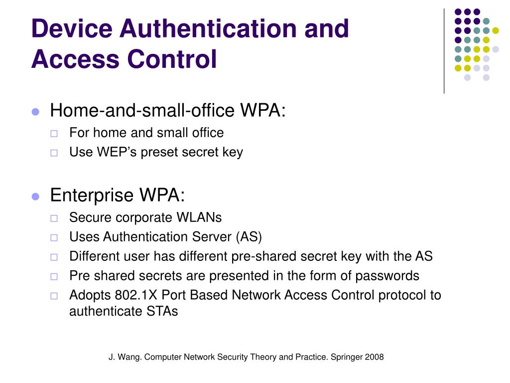 Device Authentication and Access Control