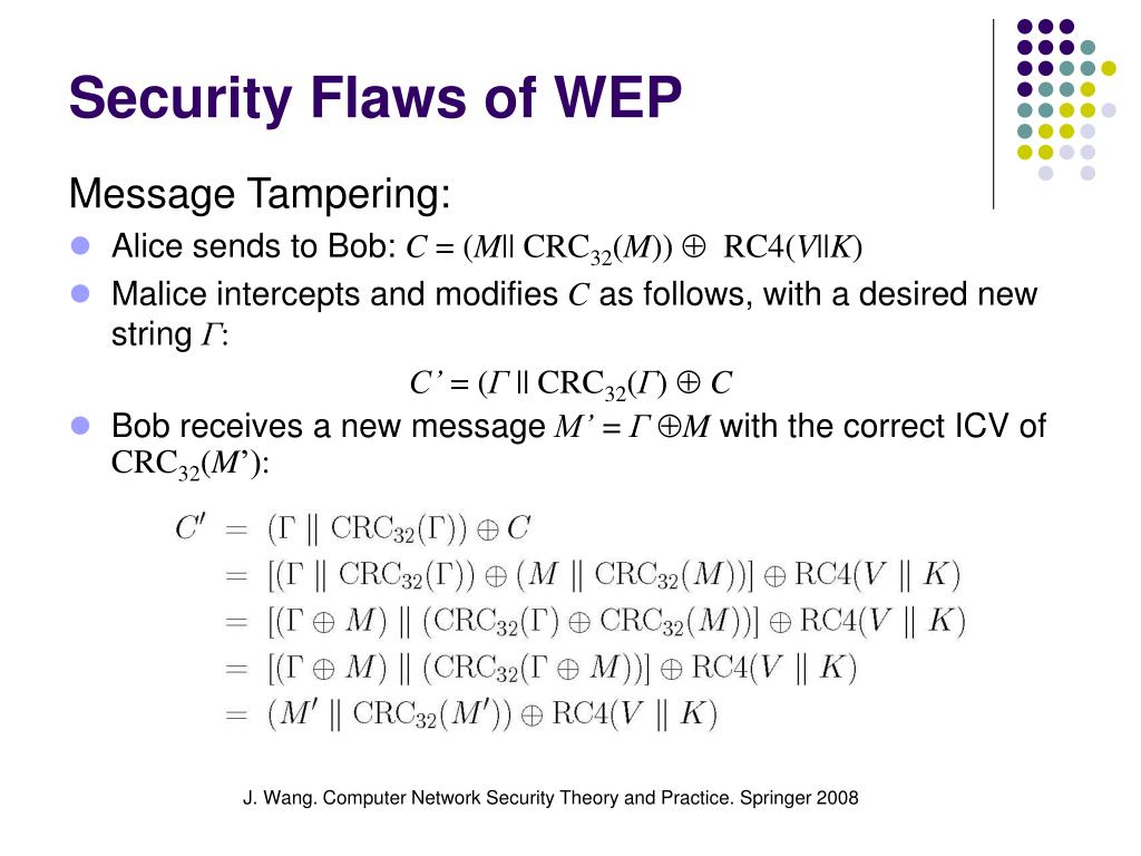Security Flaws of WEP