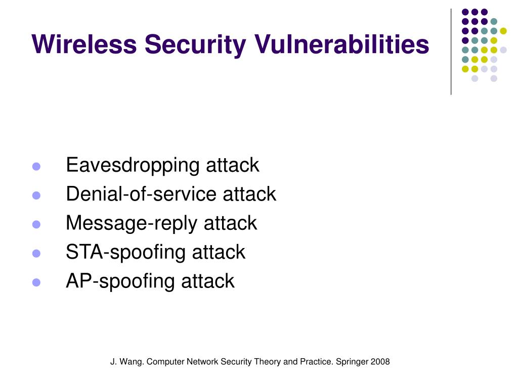 Wireless Security Vulnerabilities