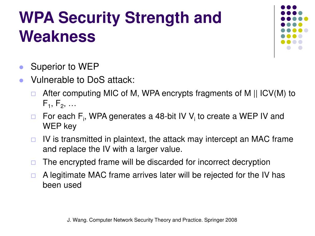 WPA Security Strength and Weakness