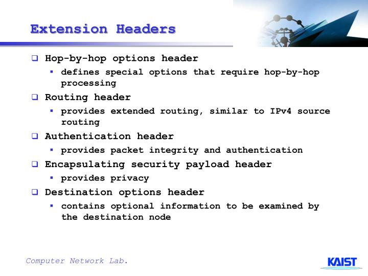 Extension Headers