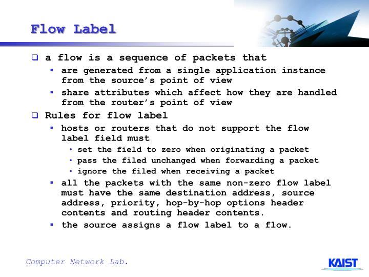 Flow Label