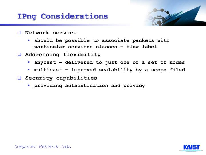 IPng Considerations