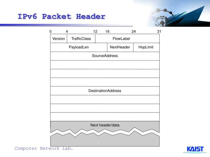 IPv6 Packet Header