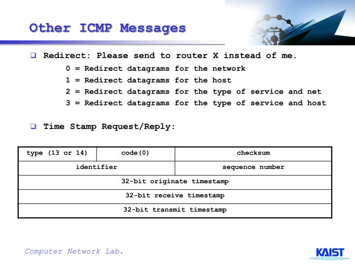Other ICMP Messages