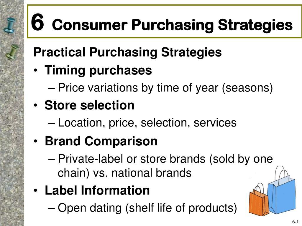 6 consumer purchasing strategies l.