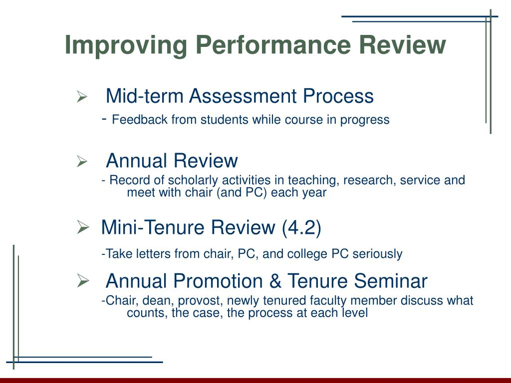 Improving Performance Review