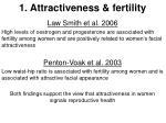 1 attractiveness fertility