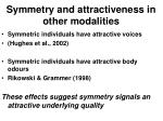 symmetry and attractiveness in other modalities