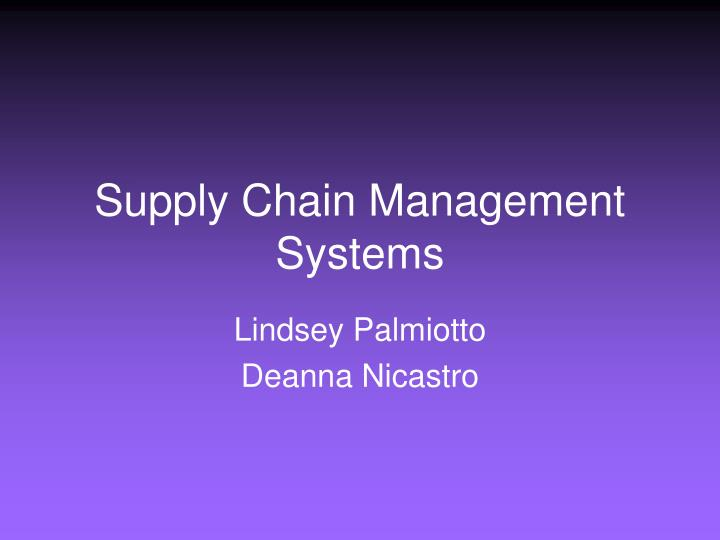 supply chain management systems n.